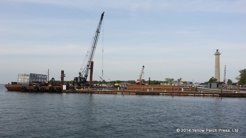 Put in Bay dock construction