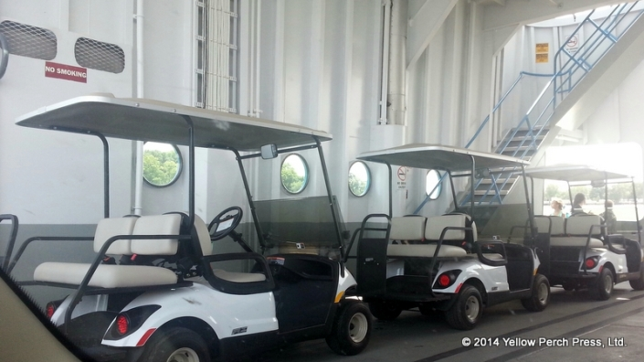 Golf Carts on Miller Boat Line