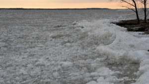 ice waves at Put in Bay