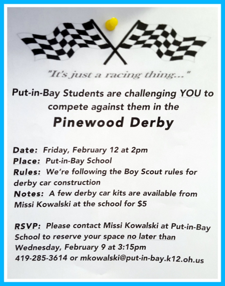 Pinewood Derby Put in Bay