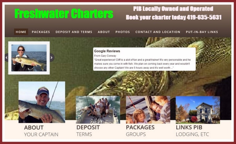 Freshwater charters accessible via world wide web put in for Put in bay fishing charter