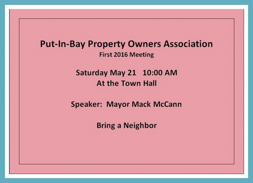Property owners at Put in Bay