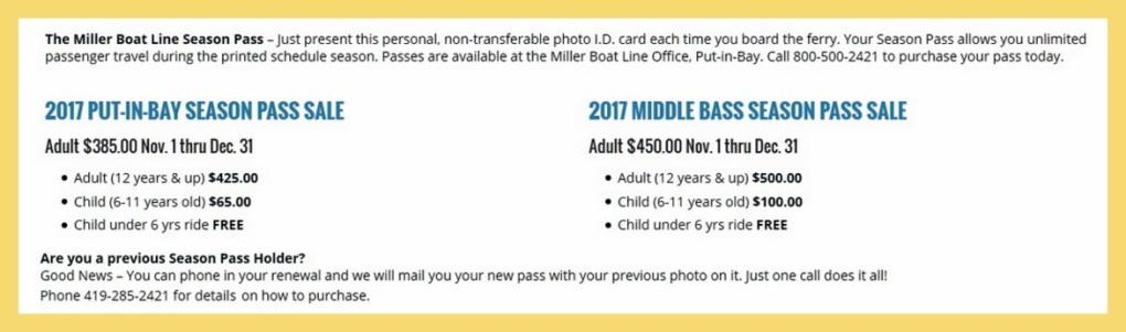 Ferry season pass