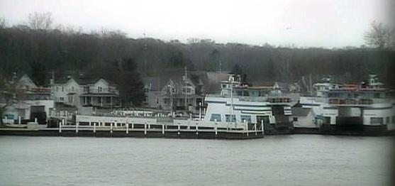 Gibraltar's OSU Classcam reveals slumbering Miller ferries at noon on Saturday.