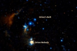 Orion Nebula location. Image: Wikisky