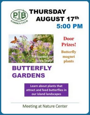 Garden By The Bay August 2017 put-in-bay garden club activities enhance environmental awareness